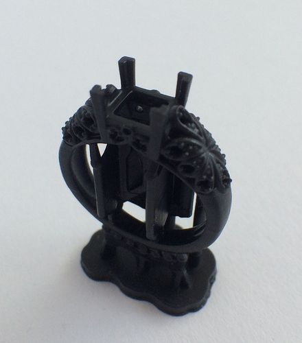 3D Printed Ring by Christophe Chang: This ring was printed on the Form 1+ at 25 microns in black resin.