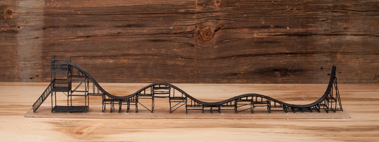 3D Printed version of Ben Katz's rollercoaster