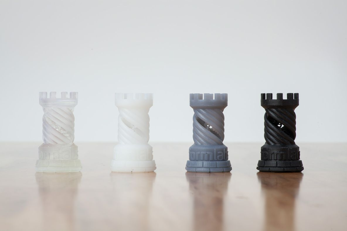 Formlabs sample parts now in Black, Clear, White, or Grey Resin