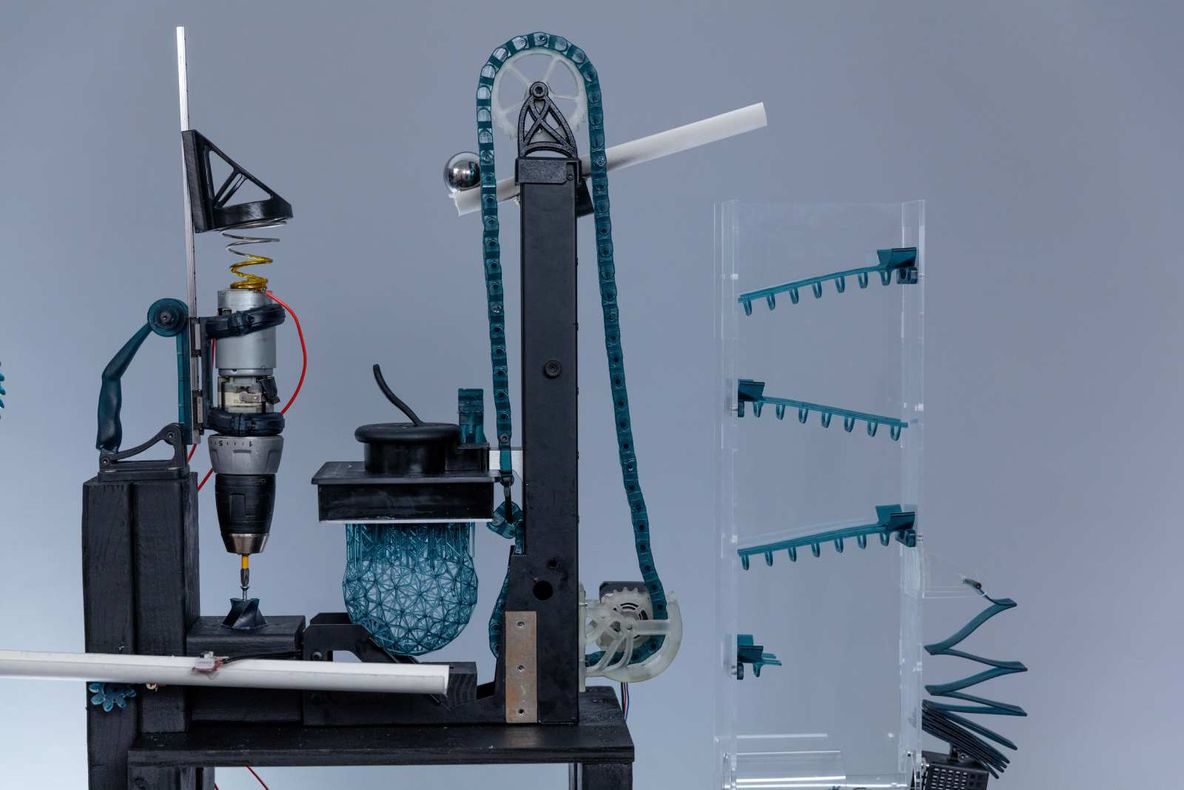 3D Printed Rube Goldberg Machine