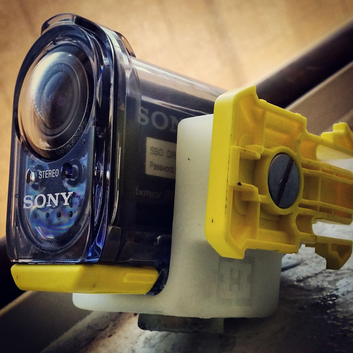 camera mount made with white resin