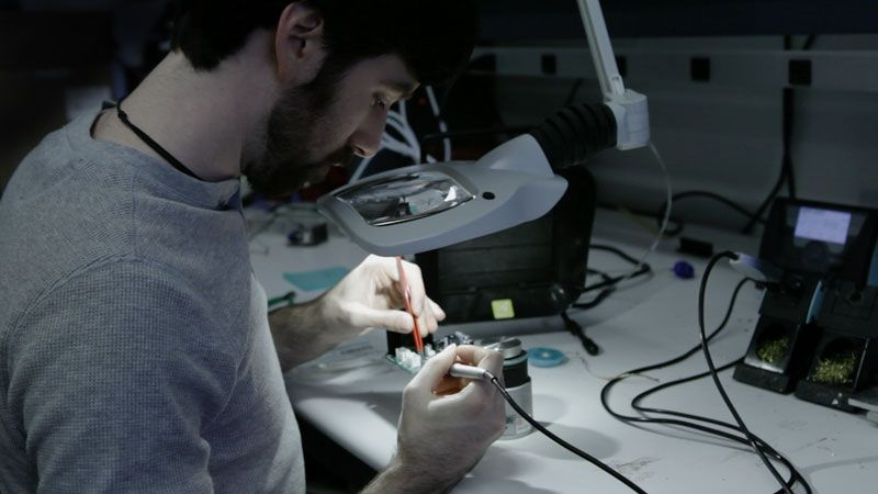Formlabs electrical engineer Matt Keeter
