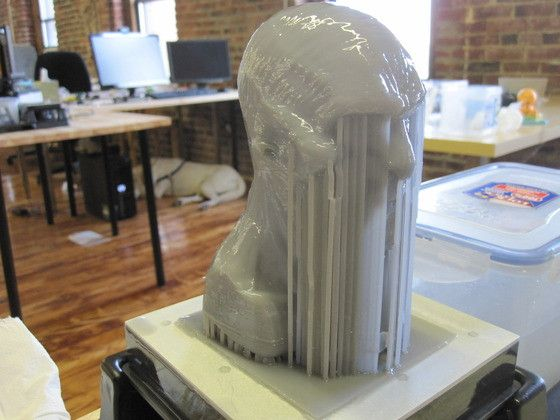 3D printed White Walker bust by Chris Damask