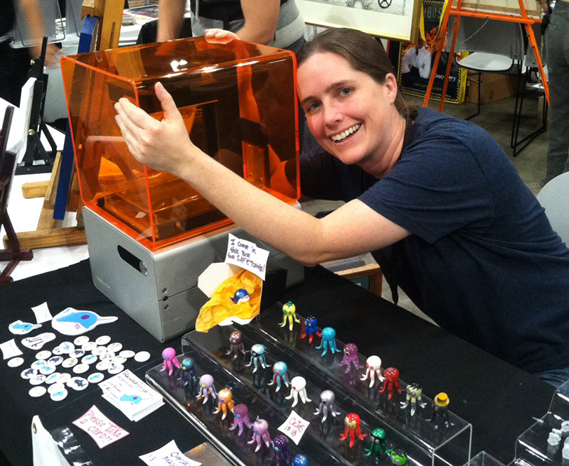 Ann Sidenblad and her Form 1 3D printer