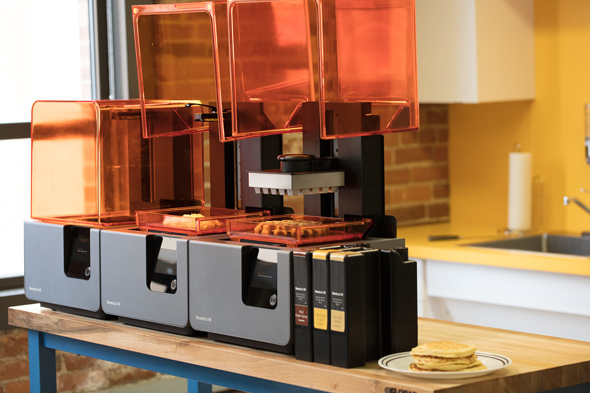 A Formlabs print cell in a kitchen.