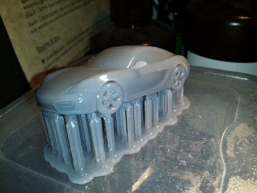 Dylan Jackson Porsche Cayman S model in Formlabs Grey Resin
