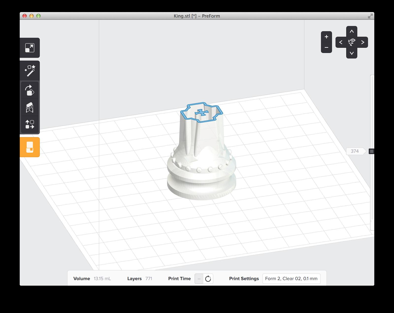 3D Model in PreForm