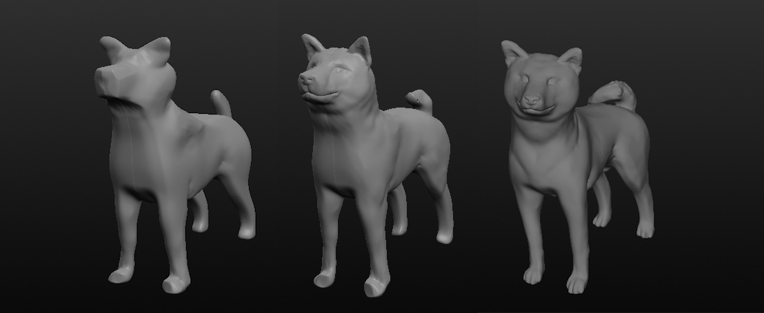3D Sculpting Dog