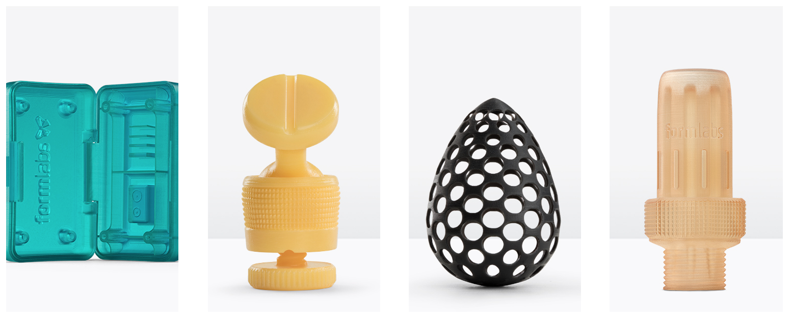 Free sample parts in Formlabs' new materials
