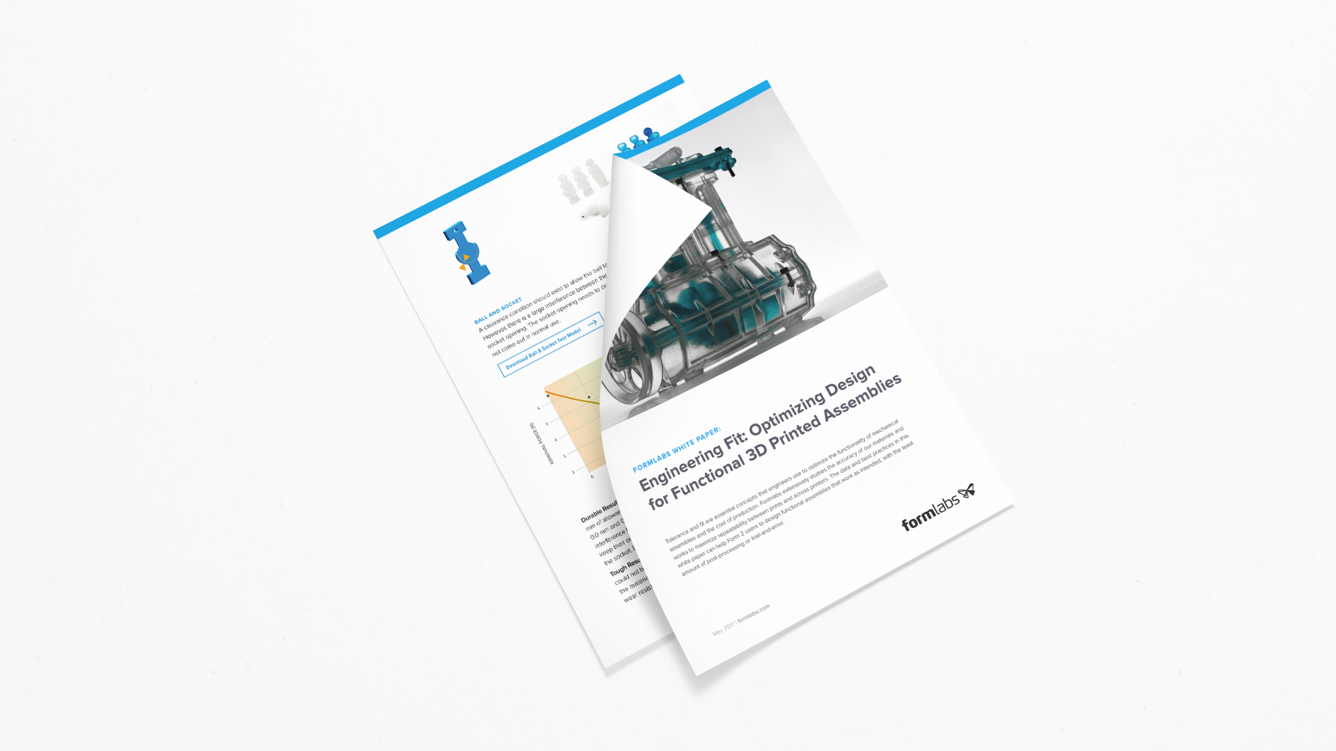 "an image of Formlabs' white paper ""Engineering Fit: Optimizing Design for Functional 3D Printed Assemblies."""
