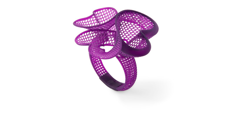 A filigree bangle master for direct investment casting, 3D printed on the Form 2