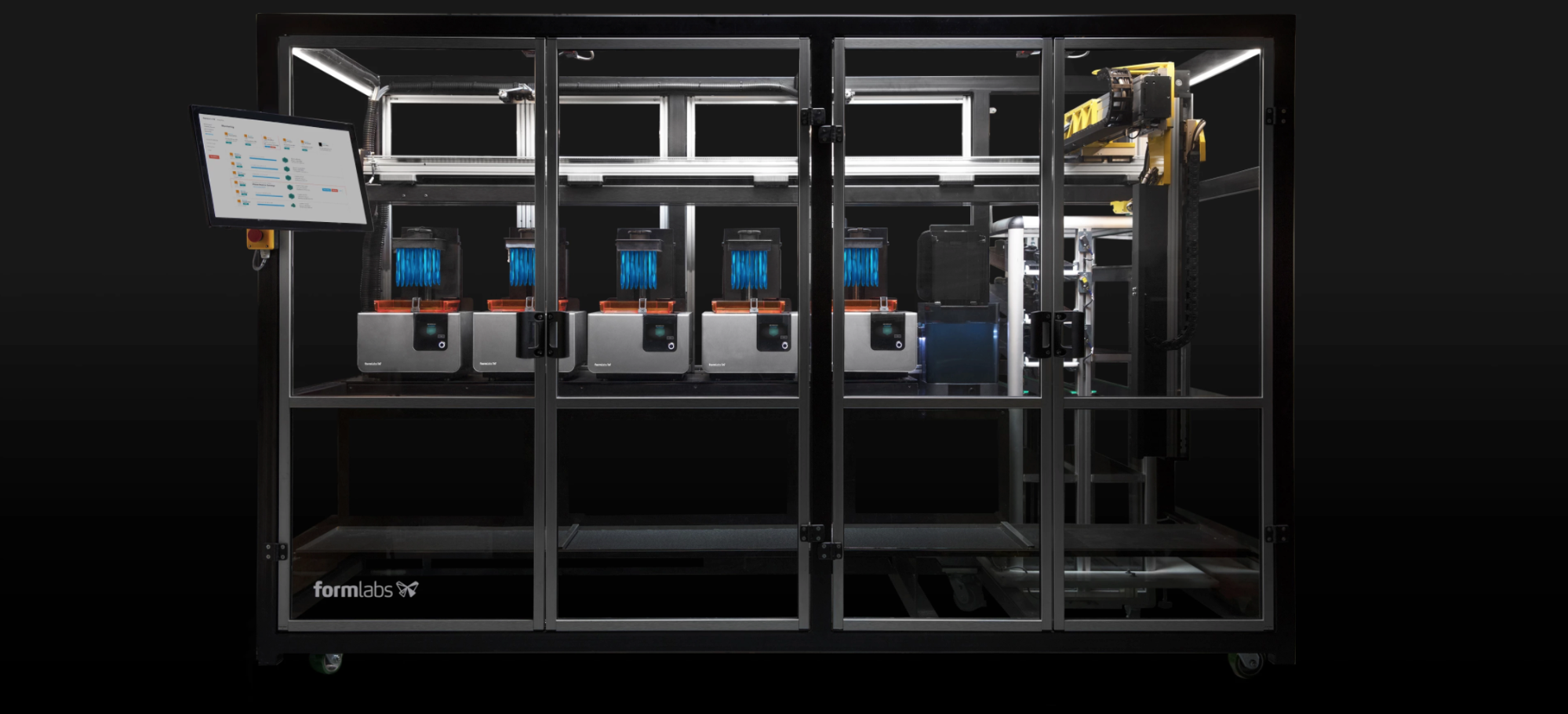 Formlabs Form Cell, an automated production system powered by Form 2 stereolithography 3D printers.