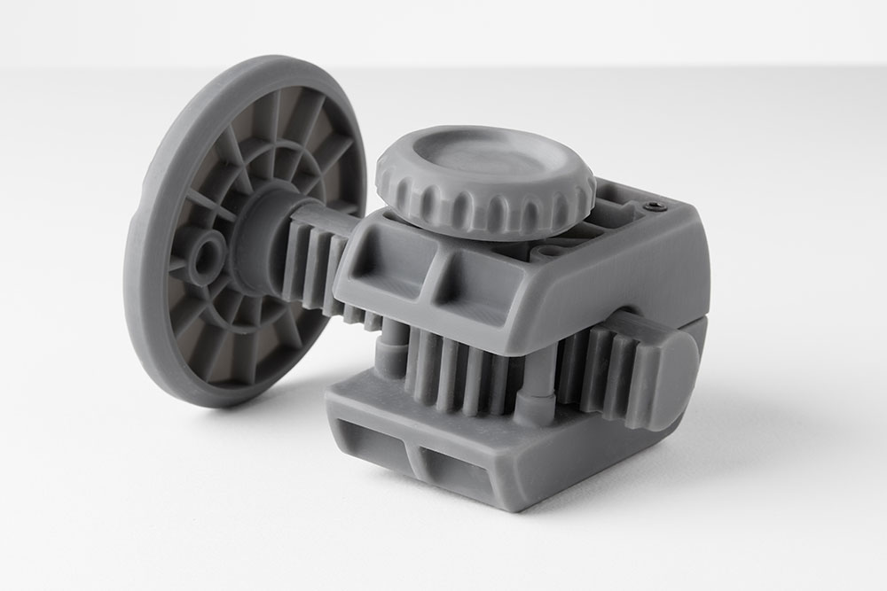Grey Pro Resin is a versatile prototyping material, suited for functional parts and rigorous testing.