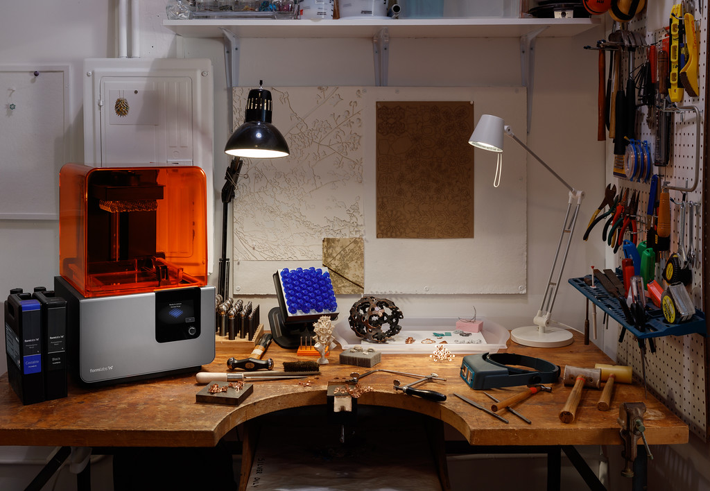 With desktop 3D printing, jewelers can prototype in-house to finalize every aspect of design before a piece is cast.