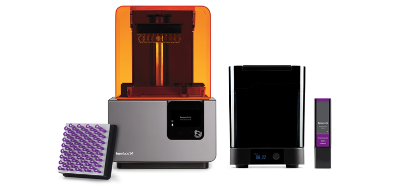 The Form 2 3D printer, Form Wash, and Castable Wax Resin