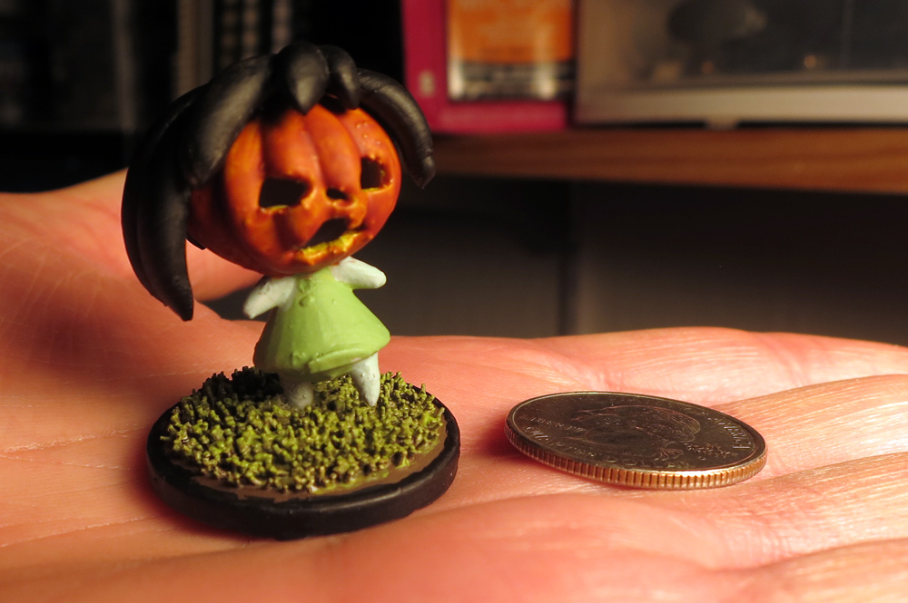 Jimmy Maidens' pumpkinheaded figurine