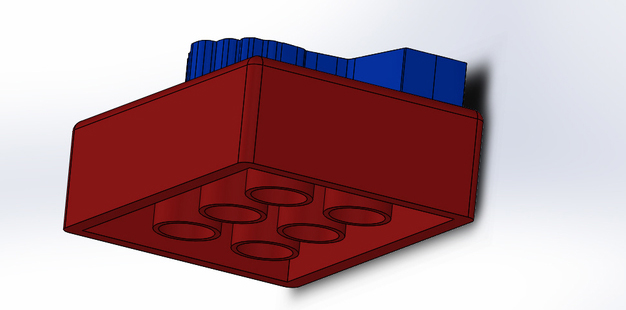 A 3D model of a lego