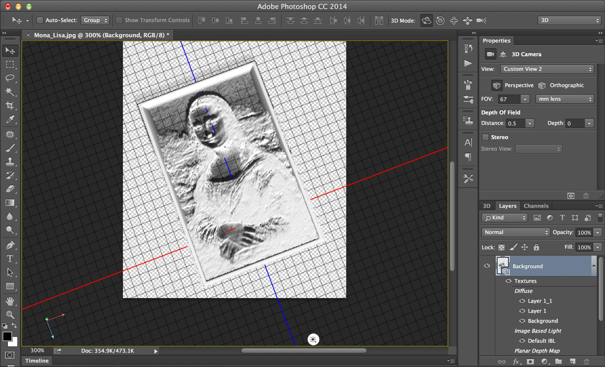 Photoshop Automatically Goes Through A Series Of Steps To Convert The Image Grayscale Invert Colors And Make 3D Depth Map