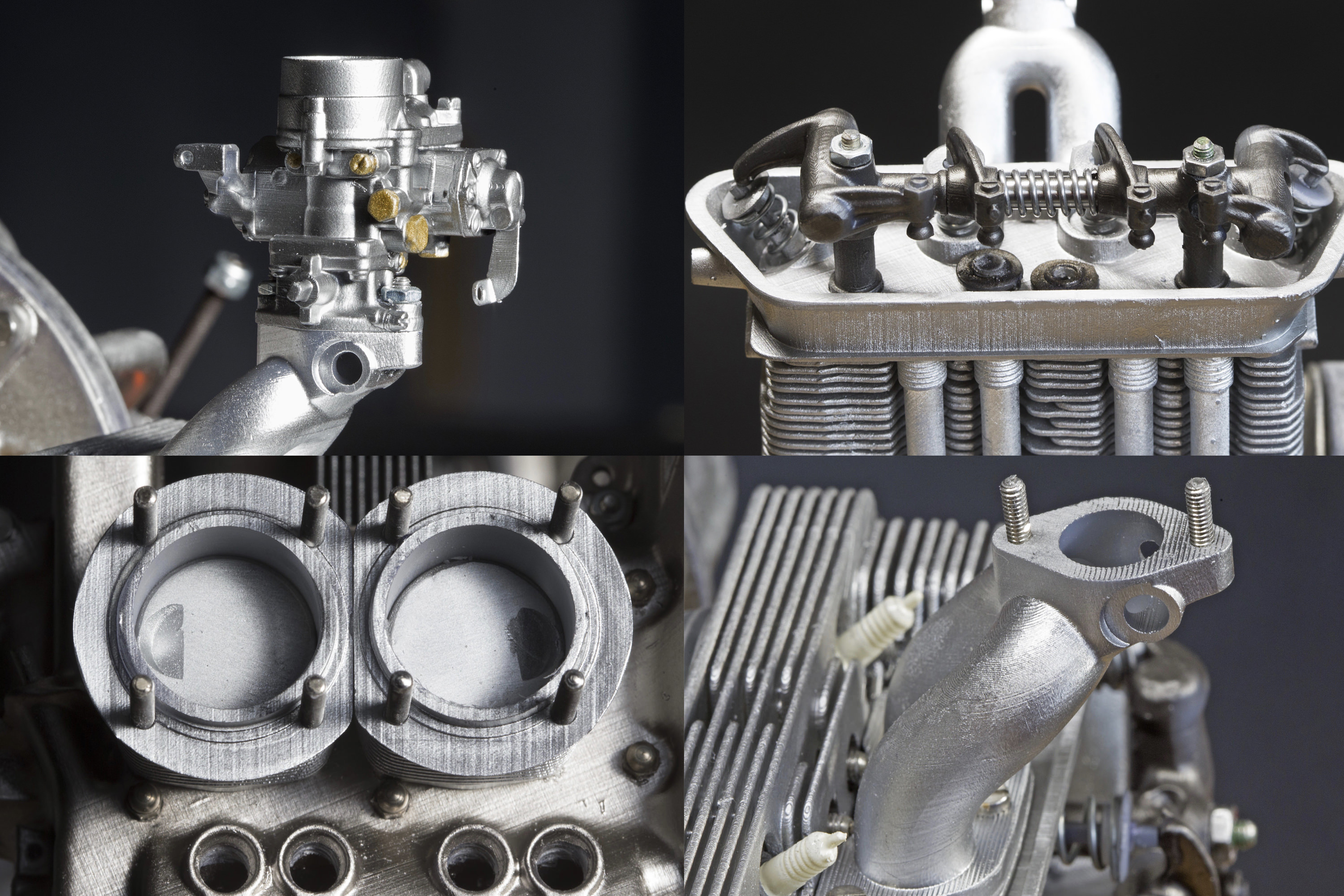 Details of the the Porsche 356 engine