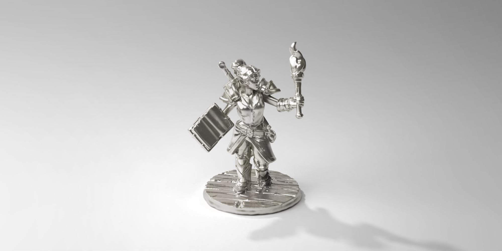 This explorer figurine cost $8 in pewter material.