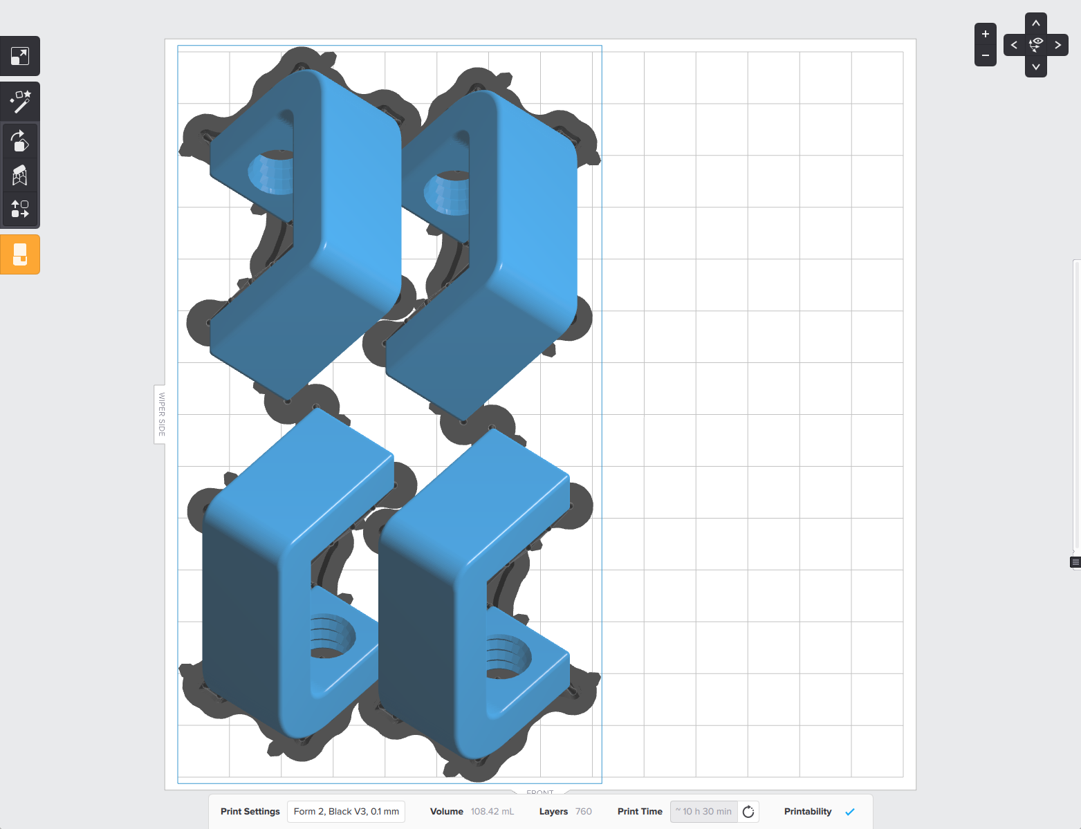 The new Auto Layout algorithm is fully 3D aware and can tuck parts underneath other parts as long as supports aren't in the way.