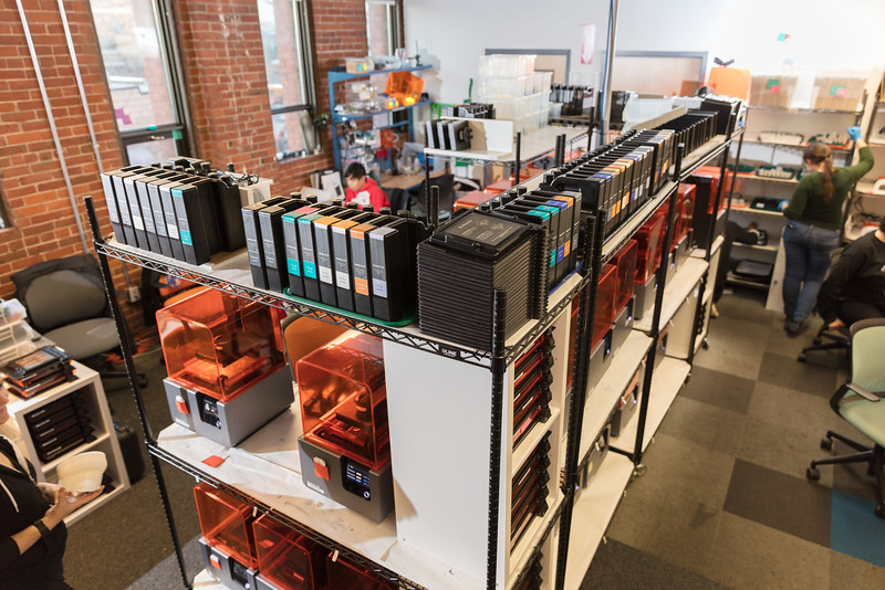 Formlabs' internal print farm.