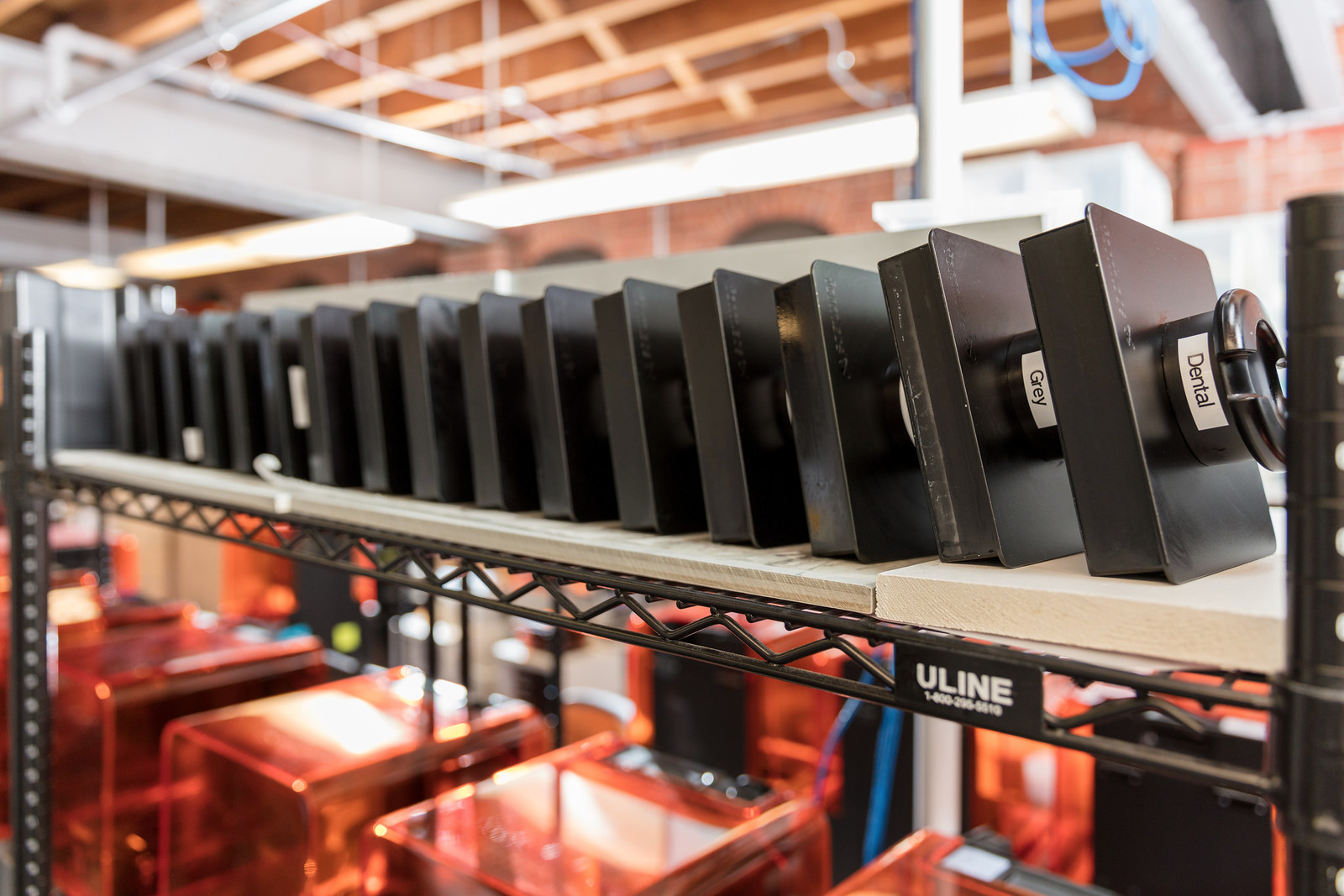 The Formlabs print production team produces hundreds of sample parts each week in multiple materials.