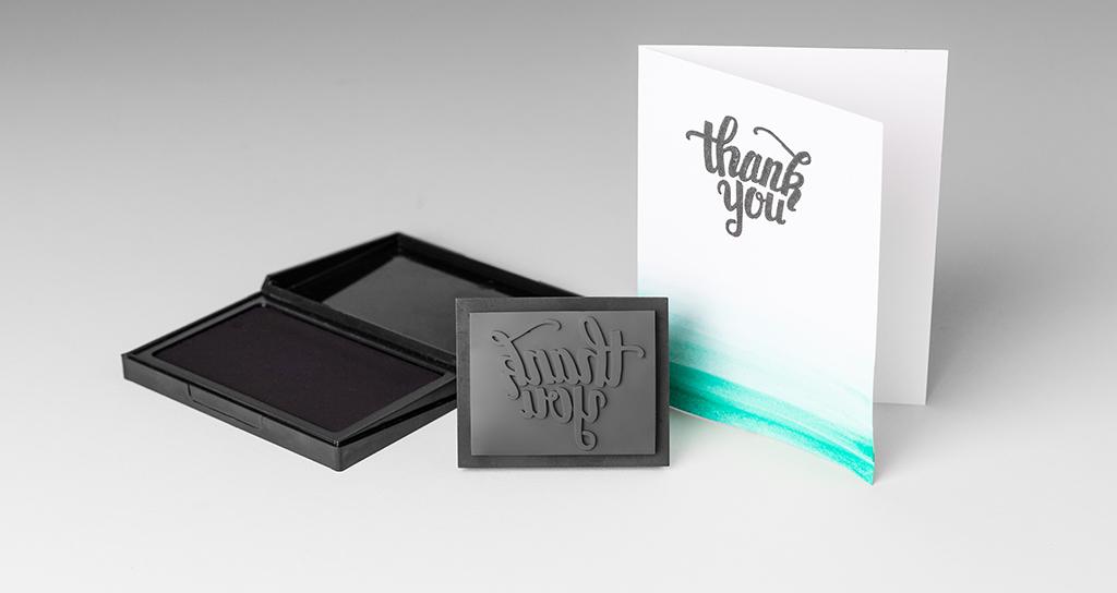 Formlabs' custom-designed 3D printed stamp.