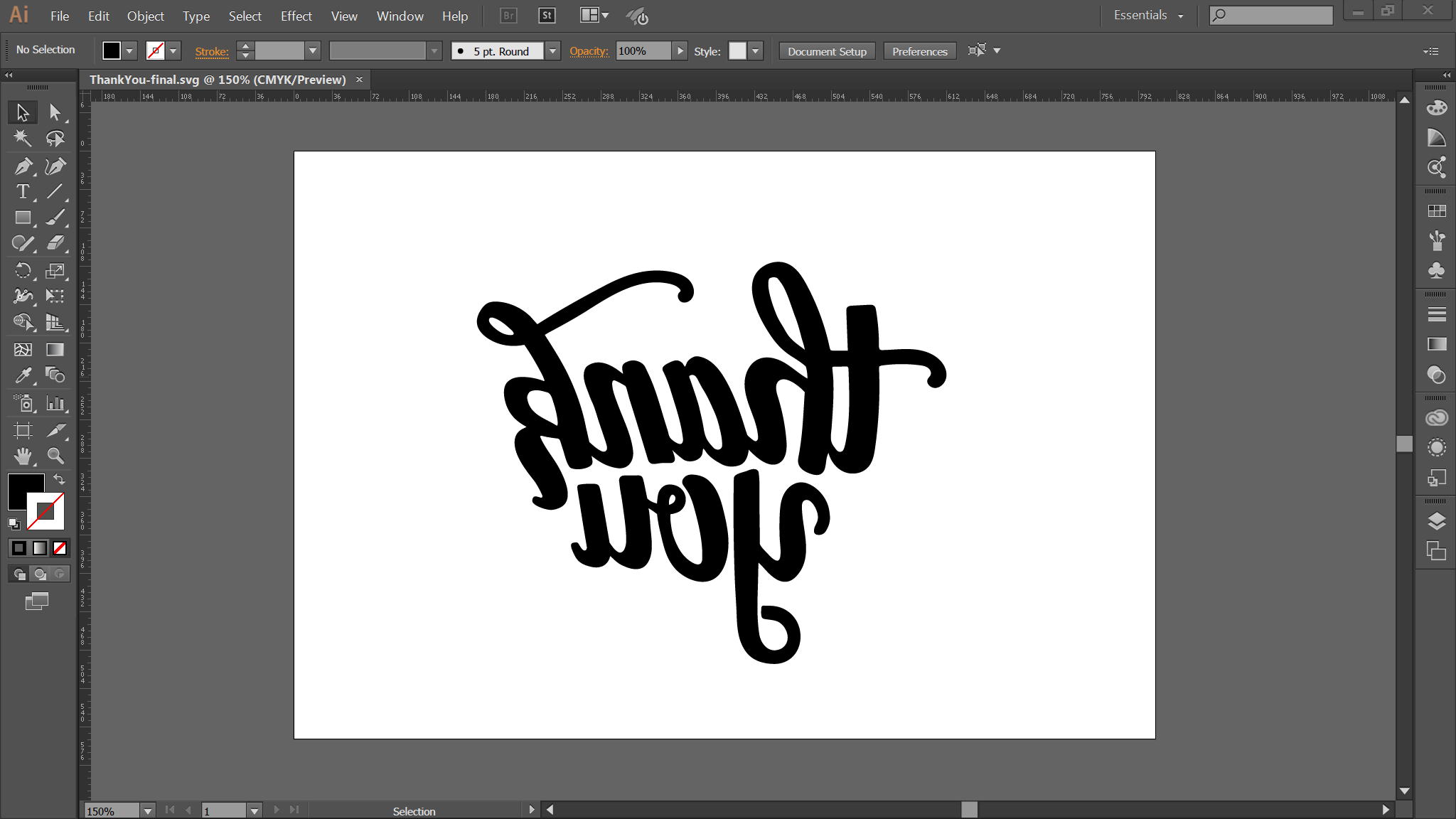 Screenshot of stamp design in Adobe Illustrator.