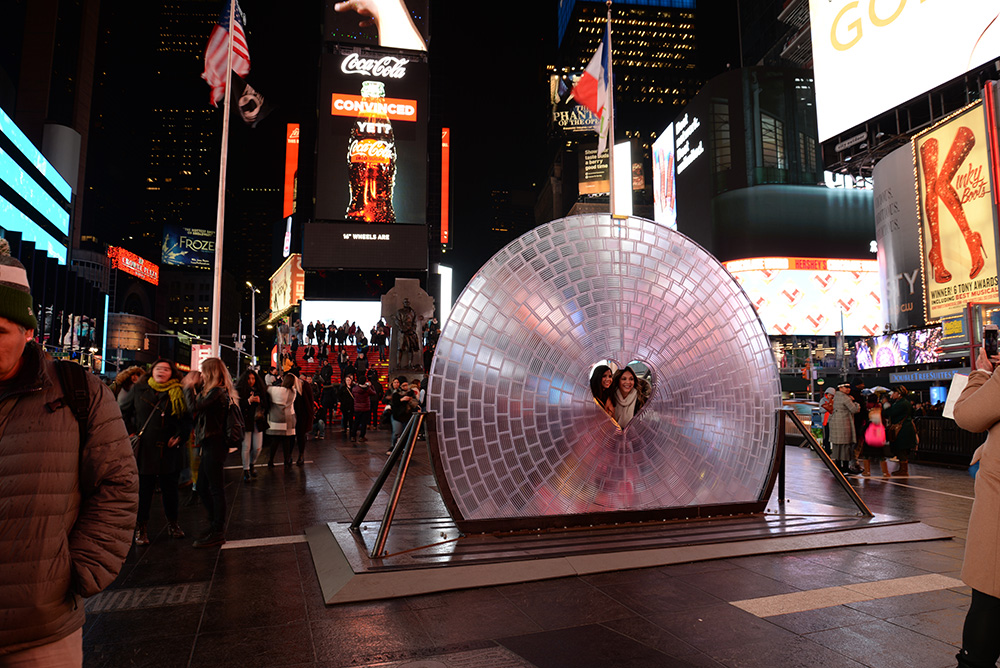 "Visit ""Window to the Heart"" in Times Square throughout February 2018."
