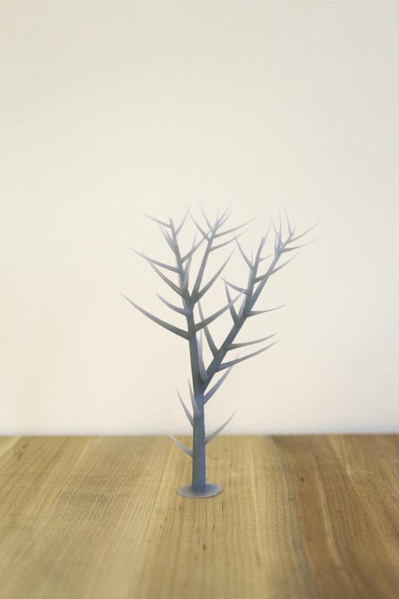 Grey Tree Print