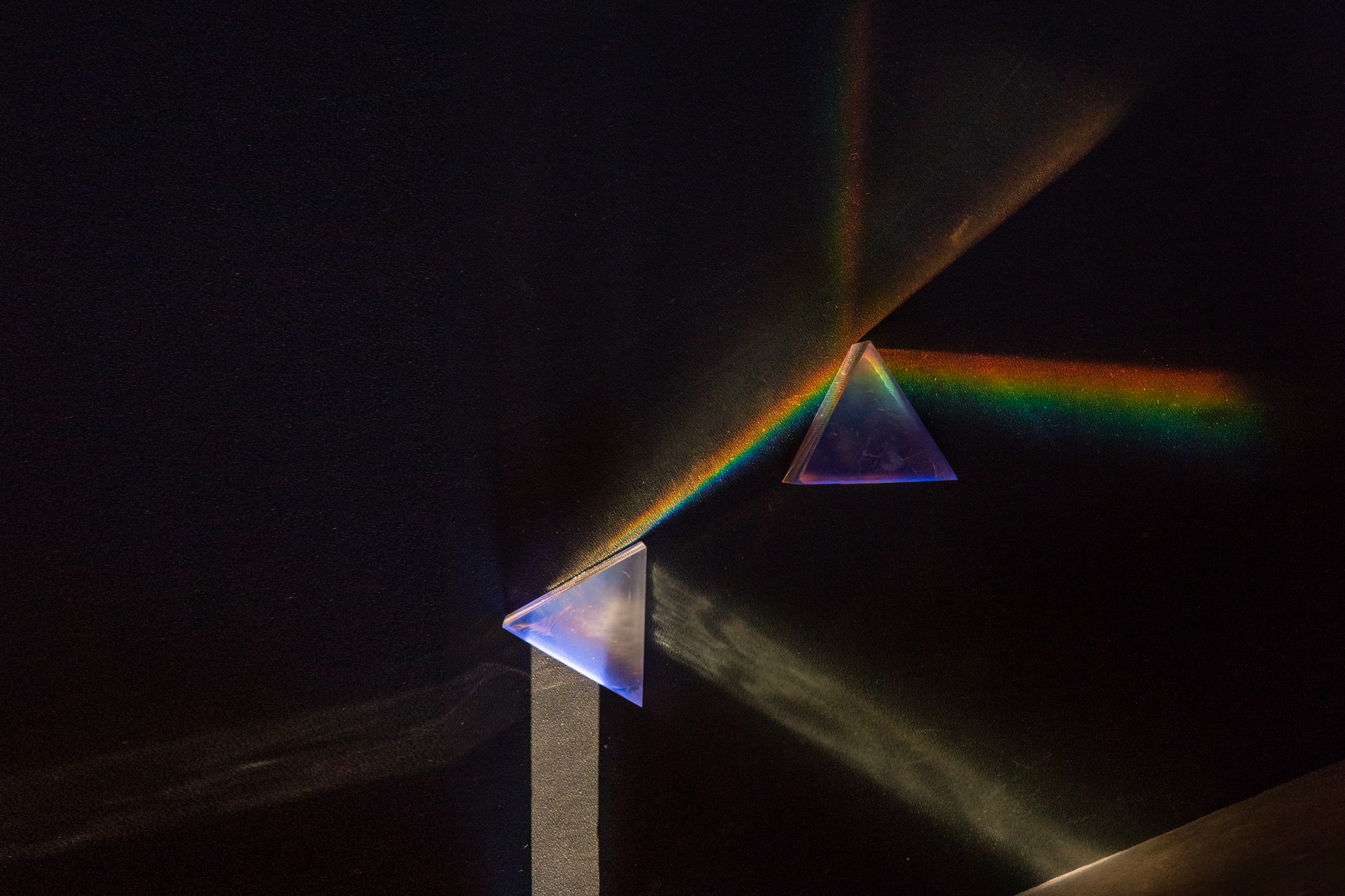 Prisms printed in Formlabs Clear Resin take advantage of its refractive properties.