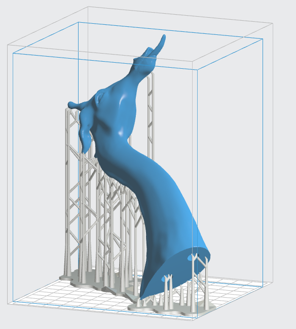 how to use disolvable support structure 3d jprinting