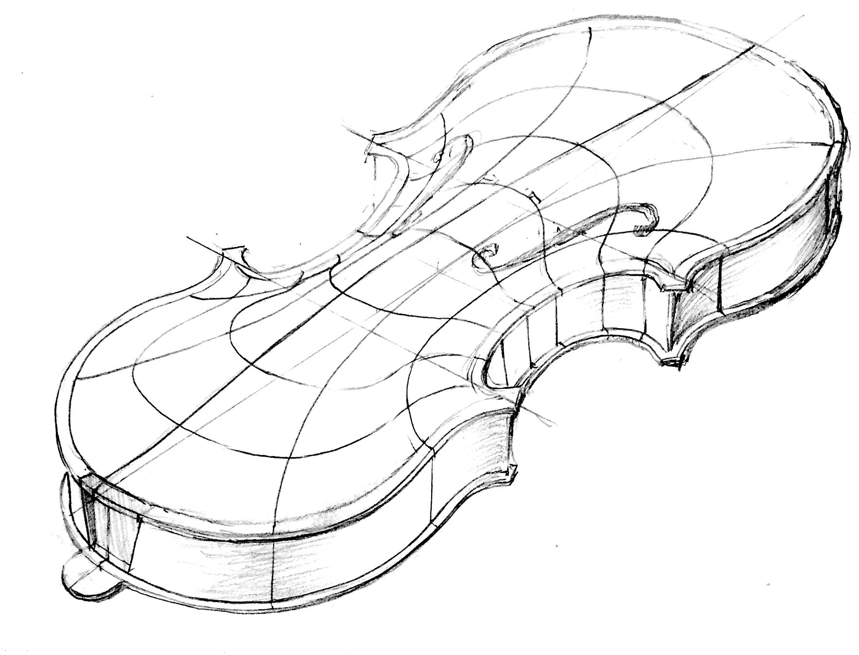 Brian Chan's violin sketch