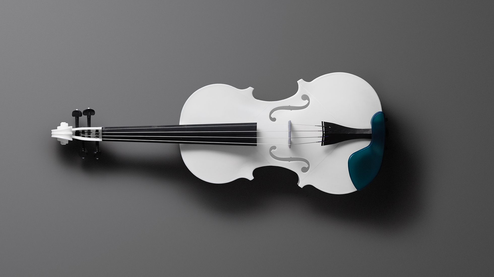 Violin printed in White Resin, designed by Formlabs engineer Brian Chan.